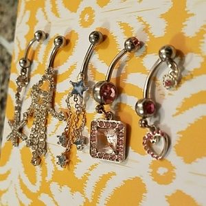 Jewelry - 5 Assorted Belly Button Rings